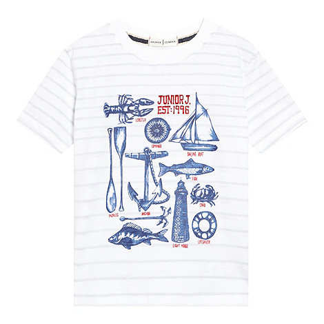 J by Jasper Conran - Designer boy+s white nautical print t-shirt