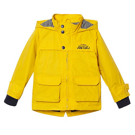 J by Jasper Conran - Designer boy+s yellow waterproof raincoat