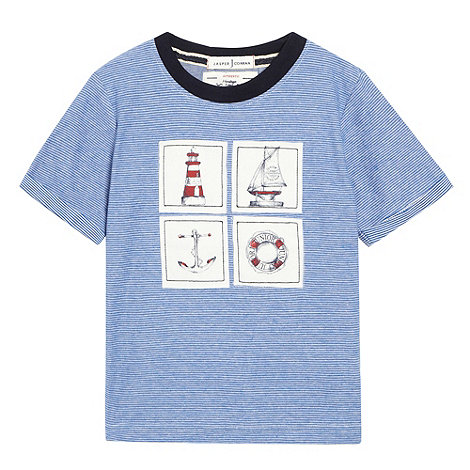 J by Jasper Conran - Designer boy+s striped nautical print t-shirt
