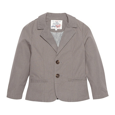 J by Jasper Conran - Designer boy+s dark grey dogtooth blazer