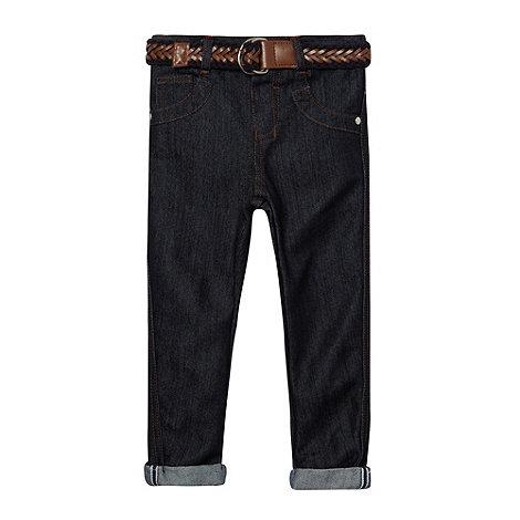 J by Jasper Conran - Designer boy+s navy belted jeans