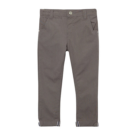 J by Jasper Conran - Designer boy's grey smart gingham chinos