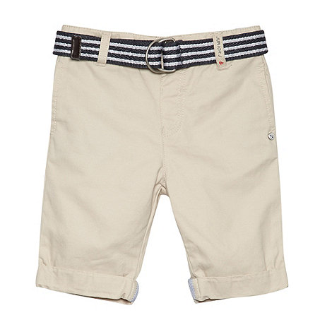 J by Jasper Conran - Designer boy+s natural slim belted chino shorts