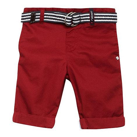 J by Jasper Conran - Designer boy+s red belted chino short