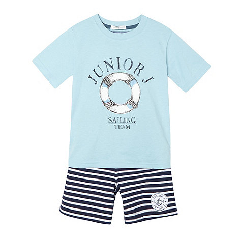 J by Jasper Conran - Designer boy+s blue sailing t-shirt and shorts set