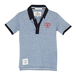 J by Jasper Conran - Designer boy's blue fine striped polo shirt