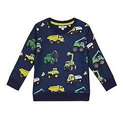 bluezoo - Boys' navy digger print top