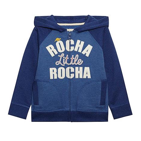 RJR.John Rocha - Designer boy+s blue logo zip hoodie