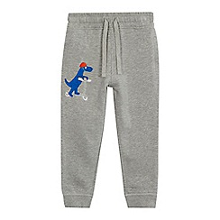 bluezoo - Boys' grey dinosaur applique jogging bottoms