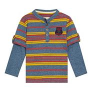Designer boy's blue striped t-shirt