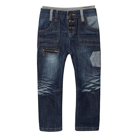RJR.John Rocha - Designer boy+s blue faded rib insert jeans