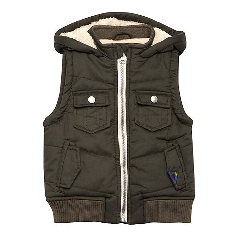 RJR.John Rocha - Designer boy+s khaki fleece lined gilet