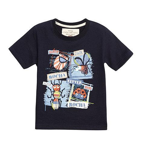 RJR.John Rocha - Designer boy+s navy bugs t-shirt