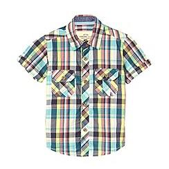 RJR.John Rocha - Designer boy's blue checked shirt