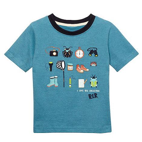 RJR.John Rocha - Designer boy+s blue fine striped bug icon print t-shirt