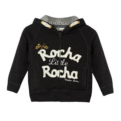 RJR.John Rocha - Designer grey applique logo hoodie
