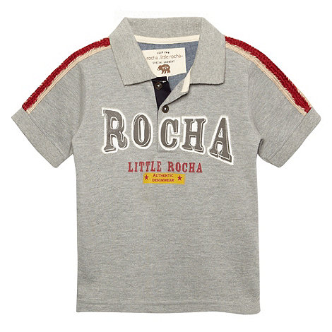 RJR.John Rocha - Designer boy+s grey applique logo polo shirt