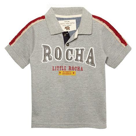 RJR.John Rocha - Designer boy+s grey applique logo polo shirt