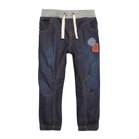 RJR.John Rocha - Designer boy+s dark blue ribbed waistband jeans