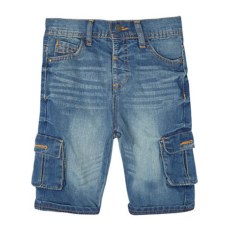 RJR.John Rocha - Designer boy+s blue denim cargo shorts