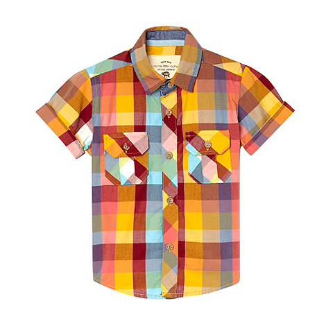 RJR.John Rocha - Designer boy+s yellow large checked shirt