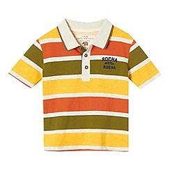 RJR.John Rocha - Designer boy's light grey block striped polo shirt