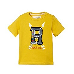 RJR.John Rocha - Designer boy's yellow applique logo t-shirt