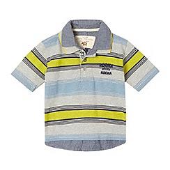 RJR.John Rocha - Designer boy's grey striped 2 in 1 polo shirt