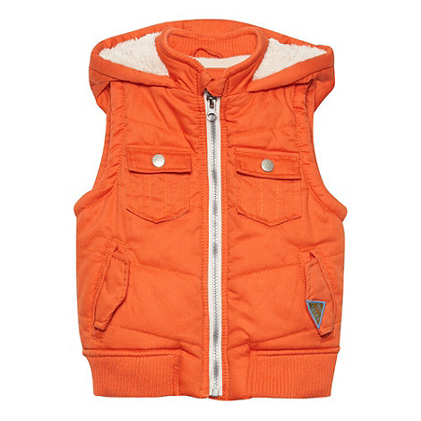 RJR.John Rocha - Designer boy+s orange padded gilet