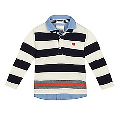 J by Jasper Conran - Boys' white jersey mockable polo shirt