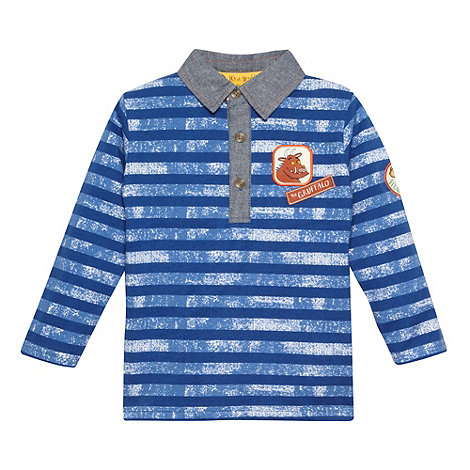 The Gruffalo - Boy+s blue striped +Gruffalo+ long sleeved top