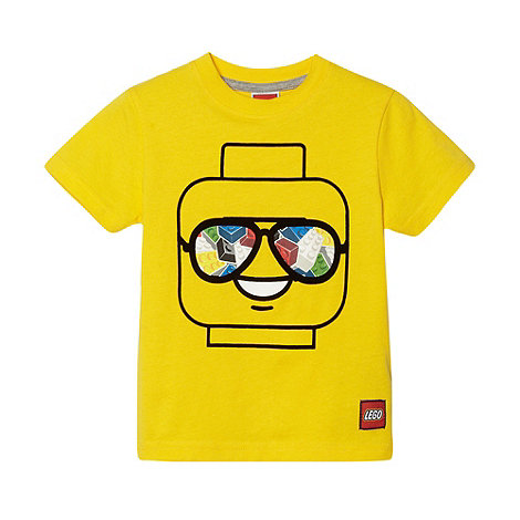 LEGO - Boy+s yellow +Lego+ head t-shirt