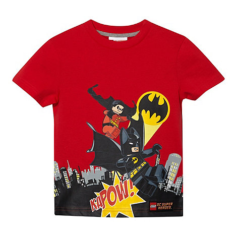 Batman - Boy+s red +Batman and Robin+ printed t-shirt