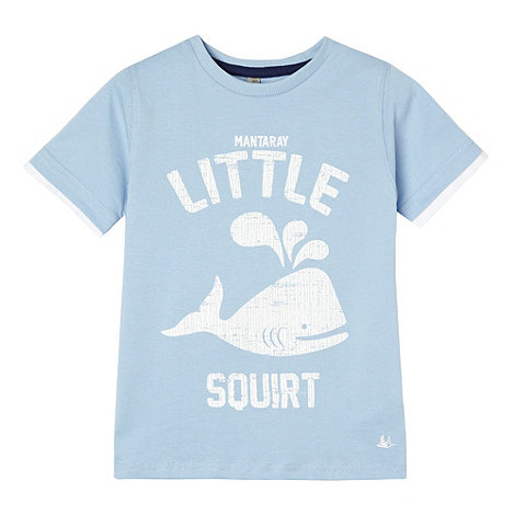 Mantaray - Boy+s light blue +Little squirt+ print t-shirt