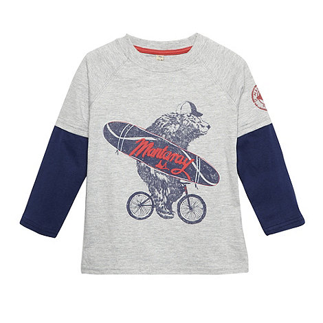 Mantaray - Boy+s grey cycling bear top