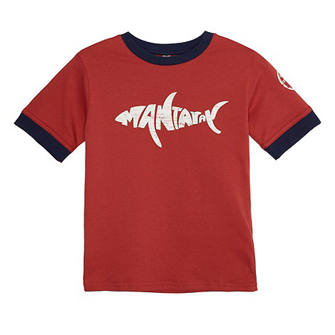 Mantaray - Boy+s red logo print t-shirt