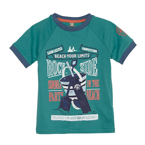 Mantaray - Boy+s turquoise +Rock Side+ t-shirt