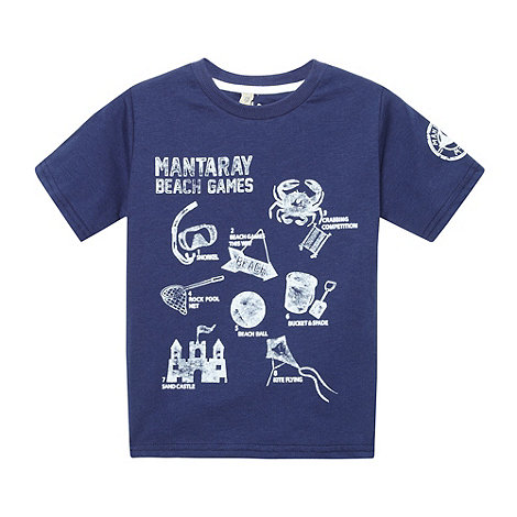 Mantaray - Boy+s navy +Mantaray Beach Games+ t-shirt