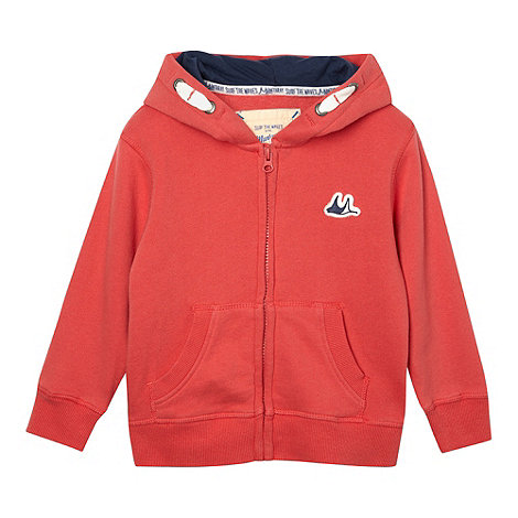 Mantaray - Boy+s red zip through hoodie