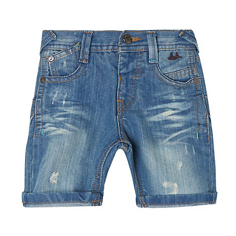 Mantaray - Boy+s blue light wash denim shorts