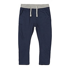 bluezoo - Boy's navy ribbed waist chinos