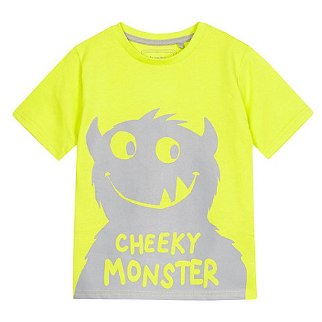 bluezoo - Boy+s lime +Cheeky Monster+ t-shirt