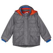 Boy's grey monkey hooded coat