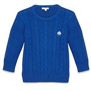 Boy's blue cable knit jumper