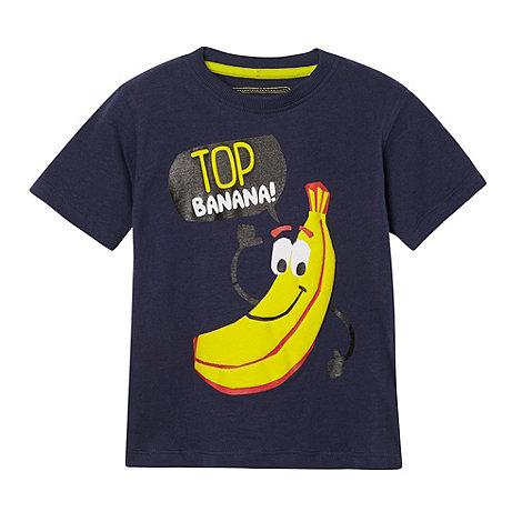 bluezoo - Boy+s navy +Top Banana+ printed t-shirt