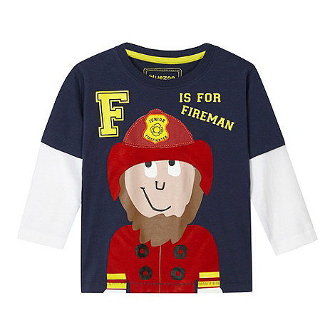 bluezoo - Boy's navy fireman t-shirt