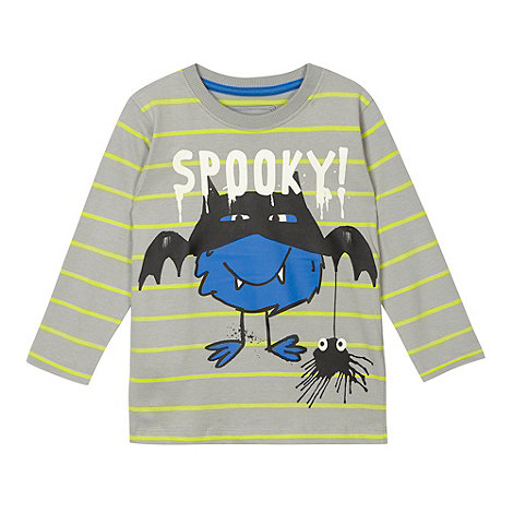 bluezoo - Boy+s grey +Spooky+ t-shirt