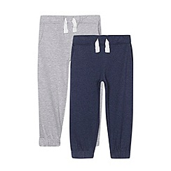 bluezoo - Pack of two boy's grey and navy cuffed jogging bottoms