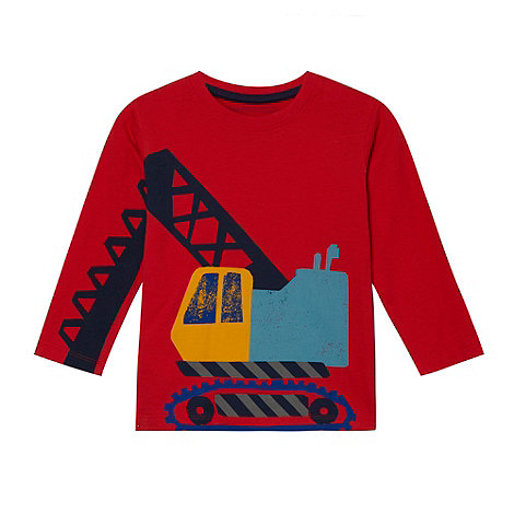 bluezoo - Boy\s red digger printed t-shirt
