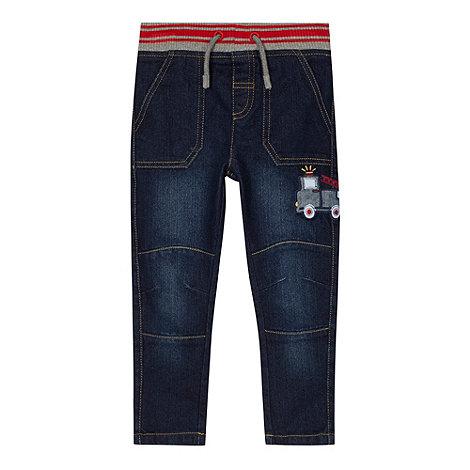 bluezoo - Boy+s blue applique fire truck jeans